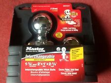 "8,000lb Master Lock Interchangeable Trailer Ball Hitch Receiver V5 2"" & 1 7/8"""