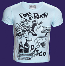 Vive Le Rock Blue Short Sleeved Seditionaries T Shirt 2 Sided Print Viva La ROCK
