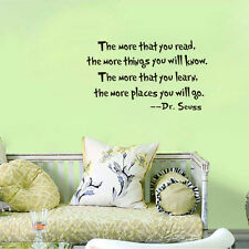 Dr. Seuss Inspire Saying Quote Vinyl Wall Decal Sticker Home Removable Decor