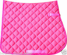EQUESTRIAN HORSE RIDING FULL SADDLECLOTH NUMNAH PAD VARIOUS COLOURS & SIZES