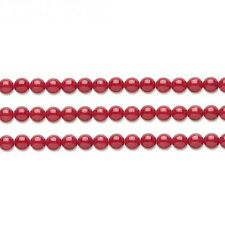Round Malaysia Jade Beads (Dyed) Red 10mm 16 Inch Strand