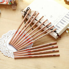 5Pc Vintage Wooden Triangle Pencils Drawing Sketching School Student Stationery