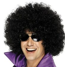 70s 80s Smiffys Mega Huge Deluxe Afro Fancy Dress Disco Wig Black New