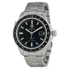 Tag Heuer Aquaracer GMT Automatic Black Dial Steel Mens Watch WAK211A.BA0830