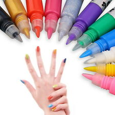 12Pcs 3D Nail Art Polish Paiting Pen Decorate Varnish Shellc Liner Curing Set UR