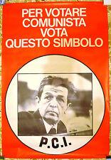 MANIFESTO ELETTORALE ORIGINALE VOTA PCI PARTITO COMUNISTA ANNI 70
