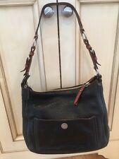 Authenic Coach #8E98 Chelsea Black Pebbled Leather Tote Bag Carryall