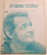 Partition vintage sheet music SERGE REGGIANI : Le Grand Couteau * 70's