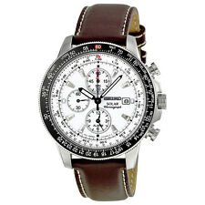 Seiko Flight Chronograph Solar Quartz Mens Watch SSC013P1