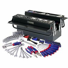 WORKPRO 183PC Handtool Set Pliers Sockets Bits Wrench Home Repair Kit Metal Box