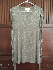 Kelly Renee Fringed Blouse Sz M Worn Once (from Belk) Excellent Condition!