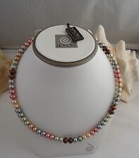 """HONORA RONDEL 18"""" Necklace - Multi-Colored 7 mm - Cultured Pearl - EXCELLENT"""
