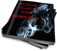 Electronic Cigarette Store E-Cig Vapor Start Up Sample Business Plan  NEW!