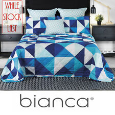 Cruze Blue - Single Bed Bedspread by Bianca - Luxury - (Throw Over Style)