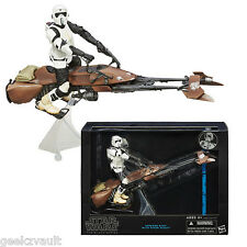 NEW STAR WARS BLACK SERIES SCOUT TROOPER W/ SPEEDER BIKE 6 inch Deluxe FIGURE