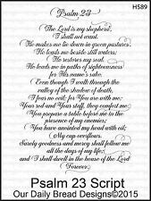 Our Daily Bread Designs Cling Stamp PSALM 23 SCRIPT H589
