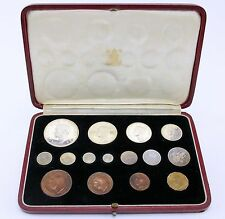 Royal Mint 1937 Pre Decimal 15 Proof Coin Maundy Set FDC Original Case Very Fine