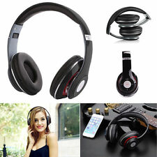 Bluetooth Wireless Stereo Headphones Headset MP3 Music Player TF Call Mic Phone