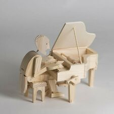 Timberkits Pianist Wooden Model Kit Moving Construction Toy Automaton