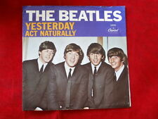 BEATLES~ YESTERDAY~ ACT NATURALLY~ VG++~ SLEEVE ONLY NO RECORD~ CAPITOL ~ POP 45