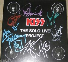 KISS SOLO PROJECT LIVE SIGNED 4 LP BOX SET GENE SIMMONS PAUL STANLEY ACE FREHLEY