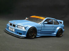 Custom Modified 1:24 BMW M3 GTR Evolution E36 Marina Blue Stanced Code3 One off