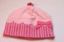 Gymboree Pink Cupcake Knit Cap Beanie Hat Infant Baby Girl 6-12 Months NEW