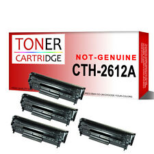 4 Black Toner Cartridge for HP Q2612A 12A Laserjet 1020nw 1022 1022n