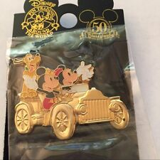 DLR Disney Golden Attraction Vehicles Minnie Mickey Pluto Horseless Carriage Pin