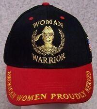 Embroidered Baseball Cap Military Woman Warrior NEW 1 hat fit all