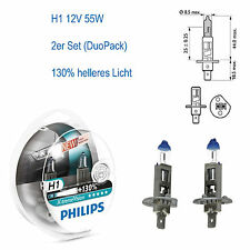 H1 Philips X-treme Vision Plus +130% 2er Set DuoPack 12V 55W 3007K Sockel P14,5S