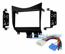 DOUBLE 2 DIN CAR STEREO RELOCATION DASH INSTALLATION MOUNTING KIT W WIRE HARNESS