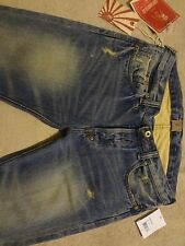 PRPS RAMBLER SELVEDGE MENS Jeans 42 / Fits only SLIM 40 x 34  Distressed Wash