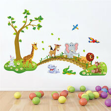 Nursery Zoo Jungle Safari Animals Kid's Play Room Wall Sticker Decal Decor Art