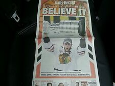 CHICAGO BLACKHAWKS DAILY HEARLD NEWSPAPER 2013 STANLEY CUP CHAMPIONS