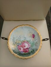 RARE ANTIQUE FRENCH LIMOGES PLATE ON MUSICAL STAND