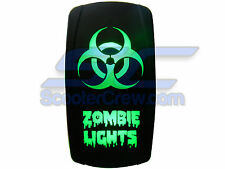 UTV Rocker Switch Green Led On Off Zombie Light Toggle Square 5 prong Dune Sand