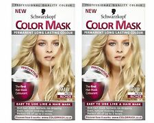 2 x Schwarzkopf Color Mask Colorazione Permanente 910 Perla Bionda