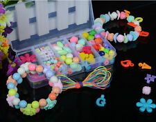 120pcs Mixed Color & Shape Plastic Jewelry Beads Set For Kids Crafts DIY