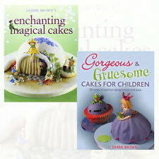 Debbie Brown Collection 2 Books Set Pack Enchanting Magical Cakes and Gorgeous