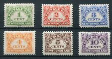 Newfoundland 1939-49 Postage dues SG D1/6 mounted mint
