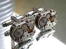 Steampunk Punk Cufflinks,clock cufflinks, vintage watch movements, Handmade