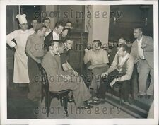 1939 Polish Refugees Listen to Radio at Polish National Home NYC Press Photo