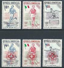 Dominican 1957 Sc# C97-99 Sc# CB1-3 Airmail 2 sets regular and for Red cross MNH