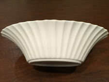Vintage Signed BOEHM Pottery Cream White OVAL SCALLOPED DISPLAY CENTERPIECE BOWL