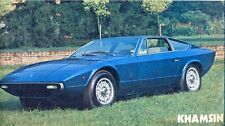 Maserati Khamsin English & Italian language sales brochure