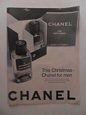 1967 Print Ad Chanel No 5 Perfume Fragrance For Men ~ Gentlemen's Christmas