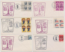 US Apollo Unmanned Space Flight 1966 Navy Recovery Force 6 Ships 6 Covers!  |