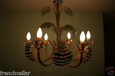 FABULOUS FRENCH FAUX  BAMBOO 6 lights bird cage CHANDELIER  porch veranda