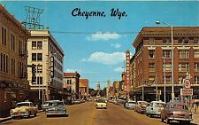 Cheyenne Wyoming~Capitol Avenue North~Paramount Theatre~Wrangler~Phone Booth~50s